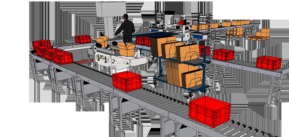 Abbildung: Packstation mit Förderband