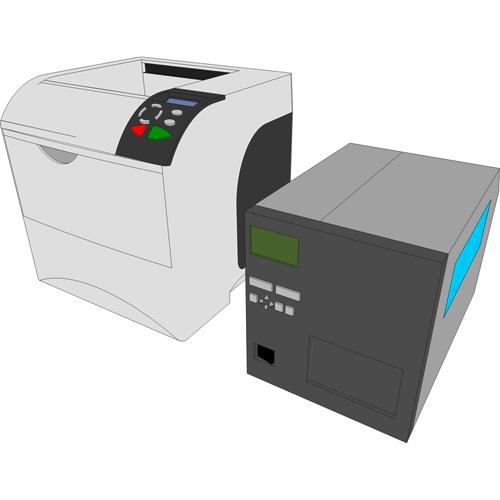 Drucker und Etikettendrucker